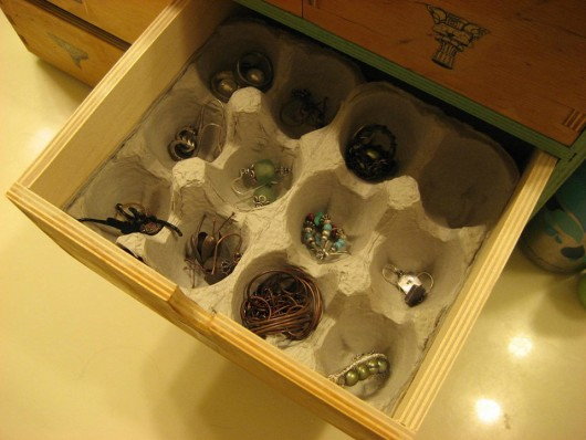 egg carton organizer is best for small things