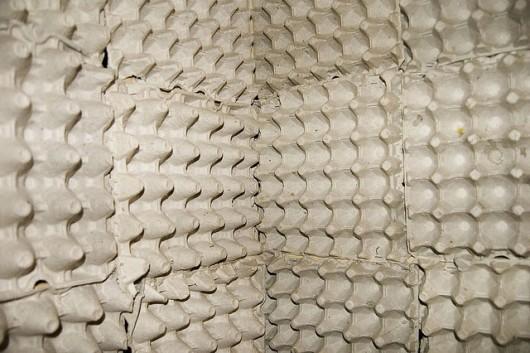 egg cartons as sound insulation